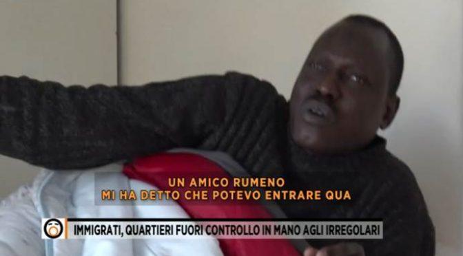 """Si spartiscono le nostre città, AFRICANO: """"ROMENO MI HA DETTO DI ENTRARE"""" – VIDEO"""
