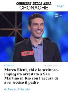 Odiava Trump e i sovranisti: Marco Eletti uccide il padre