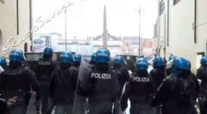 STATO DI POLIZIA: PIAZZA MILITARIZZATA CONTRO IL POPOLO, MANIFESTANTI ARRESTATI – VIDEO CHOC