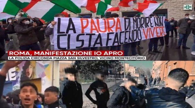 L'Italia secondo i media di regime: immigrati che hanno messo a ferro e fuoco Milano 'giovani disagiati': italiani che manifestano a Roma 'fascisti'