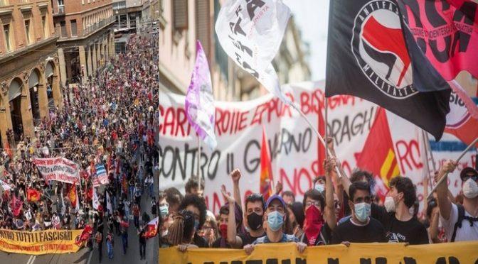 """TERRORISTI ROSSI MARCIANO AL GRIDO: """"BRUCIAMO I FASCISTI"""" – VIDEO CHOC"""