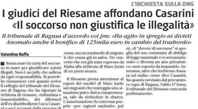 """GIUDICI AFFONDANO CASARINI: """"SPREGIO TOTALE DELLA LEGGE IN CAMBIO DI 125MILA EURO"""""""