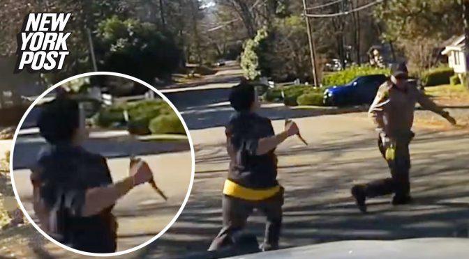 """Con bambini al seguito attacca poliziotto al grido """"Allah Akbar"""": abbattuta sul posto – VIDEO"""