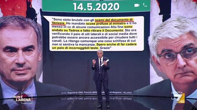Non è l'Arena mette nei guai Zaccardi, Capo Gabinetto di Speranza, con l'inedito scambio di messaggi tra Guerra e Brusaferro – VIDEO
