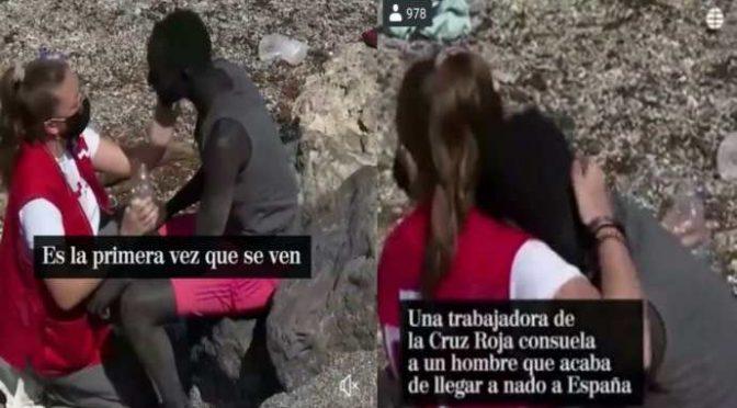 Ceuta, la crocerossina spagnola è preoccupata: si è persa il suo senegalese – VIDEO