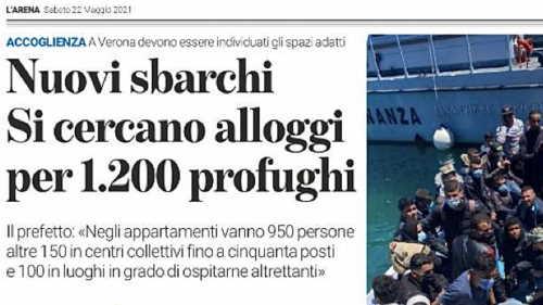 Governo cerca a Verona 1.200 alloggi in case e hotel per chi sbarca