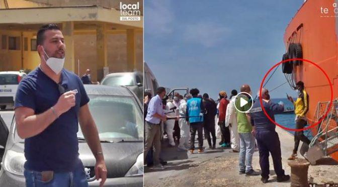 Nave privata scarica clandestini a Lampedusa: rivolta sul molo, la protesta del leader leghista – VIDEO