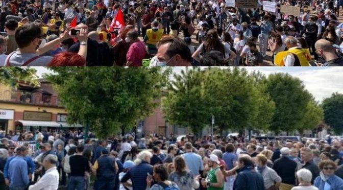 Flop manifestazione pro-ddl Zan: l'Italia vera era tutta a Chivasso da Rosanna!