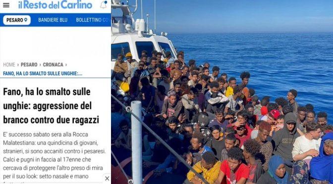 VENTI IMMIGRATI MASSACRANO RAGAZZINO ITALIANO PERCHE' HA LO SMALTO: «DIAMOGLI FUOCO», NASO E MANO FRATTURATI