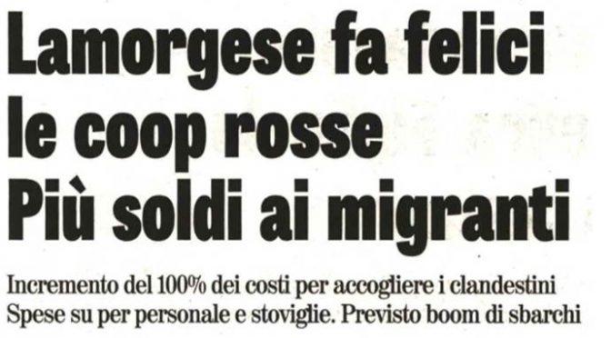 Lamorgese raddoppia la paghetta ai clandestini: 300 euro appena sbarcano