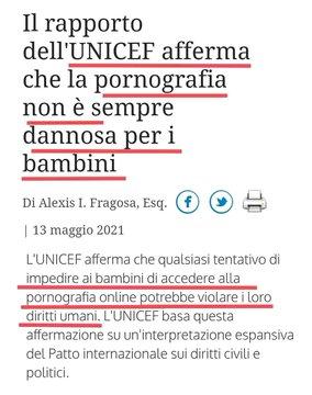 """Unicef: """"I bambini hanno diritto alla pornografia"""""""