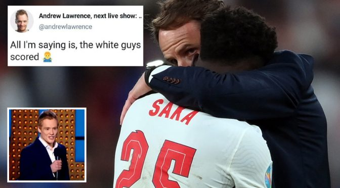 """Inghilterra, comico dice """"i ragazzi bianchi hanno segnato"""": show cancellato"""