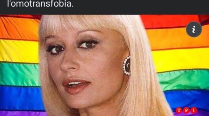 Gli sciacalli arcobaleno sul cadavere della Carrà: vogliono chiamare il DDL Zan DDL Carrà