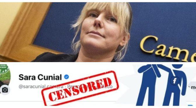 Facebook cancella la dissidente Sara Cunial