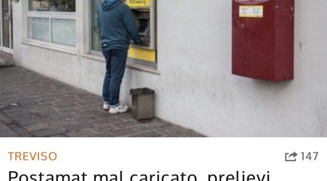 Postamat impazzito: rom in coda prelevano diecimila euro