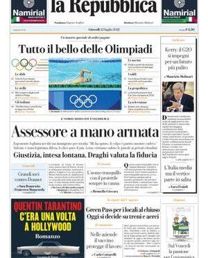 """Repubblica incita: """"ASSESSORE A MANO ARMATA"""""""