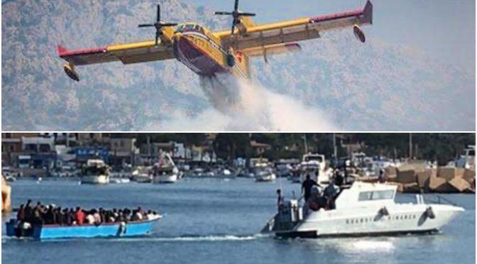 L'Italia brucia: pompieri, centinaia di interventi in Sicilia e Calabria con pochi mezzi