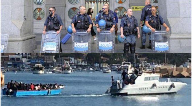 Lamorgese senza vergogna sbarca altri 300 clandestini a Lampedusa