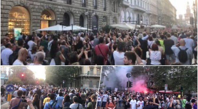 In 10mila marciano a Trieste contro il Green pass – VIDEO
