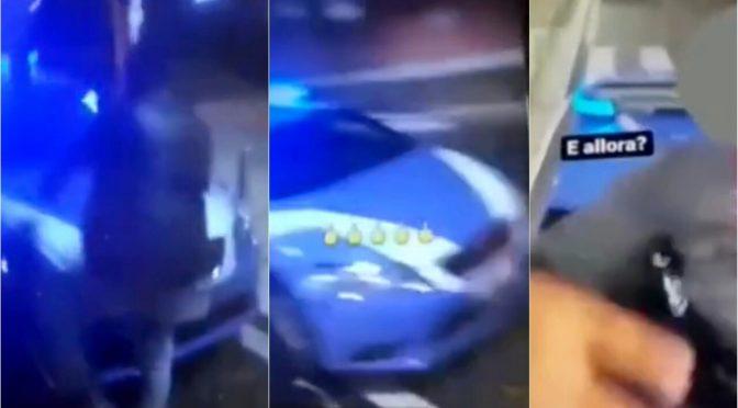 Gang di immigrati distrugge auto polizia e pubblica video su Instagram – VIDEO