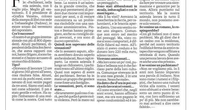 """Manager si pente: """"Meglio assumere italiani che immigrati"""""""