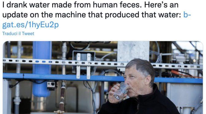 Soylent green, Bill Gates invita a bere l'acqua prodotta con la cacca