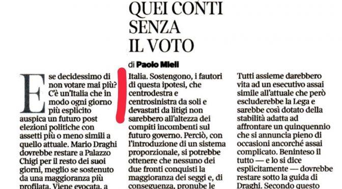 🔥 Il piano del centrosinistra: cancellare le elezioni in Italia 🔥