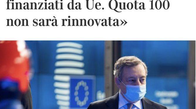 Draghi contro mi muri e continua a sodomizzare Salvini