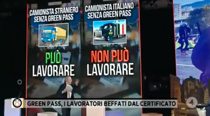 Stranieri possono lavorare senza green pass ma italiani no – VIDEO