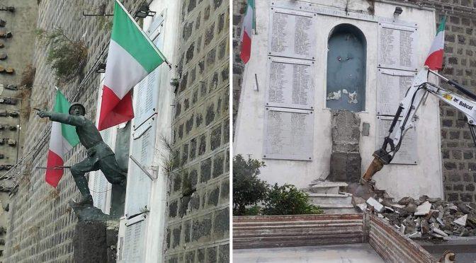 PD ABBATTE MONUMENTO AL MILITE IGNOTO PERCHE' TROPPO ITALIANO