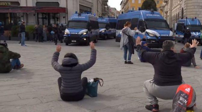 TRIESTE: CITTA' MILITARIZZATA, REGIME NON VUOLE PROTESTE – VIDEO CHOC