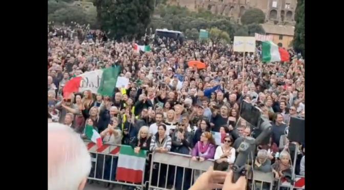 ROMA: CENTOMILA PATRIOTI CANTANO L'INNO DI MAMELI, E' IL CANTO DELLA RIVOLTA – VIDEO