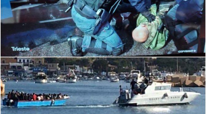 Mentre pestavano i cittadini a Trieste sbarcavano 300 tunisini a Lampedusa